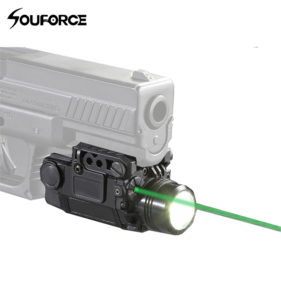 High Quality Tactical Green Laser Sight with LED Flashlight Combo with 20mm Universal Mount for Rifle Pistol Handguns Shooting high quality southern laser cast line instrument marking device 4lines ml313 the laser level
