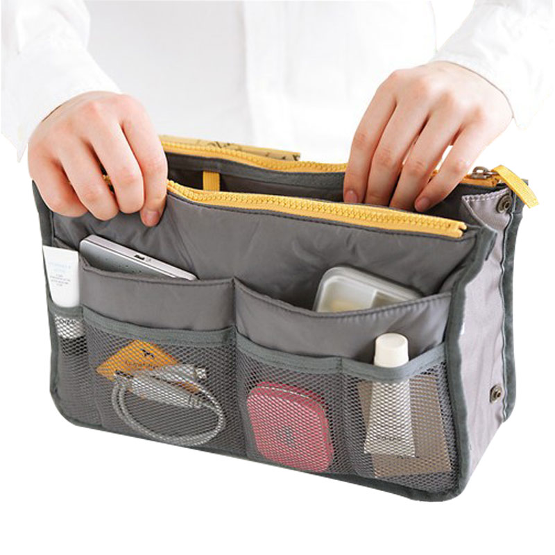 Insert Handbag Organizer Pouch Women Men Travel Cosmetic Bags for Make Up Bag Nylon Toiletry Kits Makeup Bags Cases Cosmetics