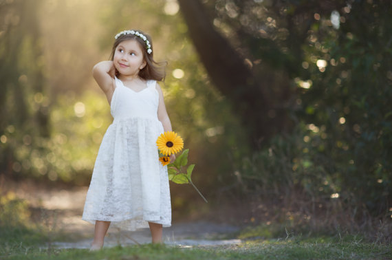 Flower Girls Dresses For Wedding Gowns Ivory And White Girl Birthday Party Dress Lace Mother Daughter Dresses For Girls