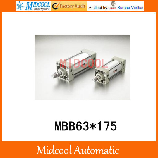 Double acting pneumatic cylinder MBB63*175 bore 63mm stroke 175mm airtac type ma25 175 s mini pneumatic cylinder double acting bore 25mm stroke 175mm with magnet mad macj msa mta customized