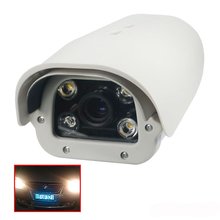Onvif 1080P 2MP fixed lens Vehicles License Plate Recognition LPR IP Camera outdoor White Light LED for speed under 120km/h