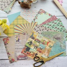 24 Sheets DIY 12 Style 15.2*15.2cm Retro style 80s Theme Craft Paper Scrapbooking Creative Gift Use