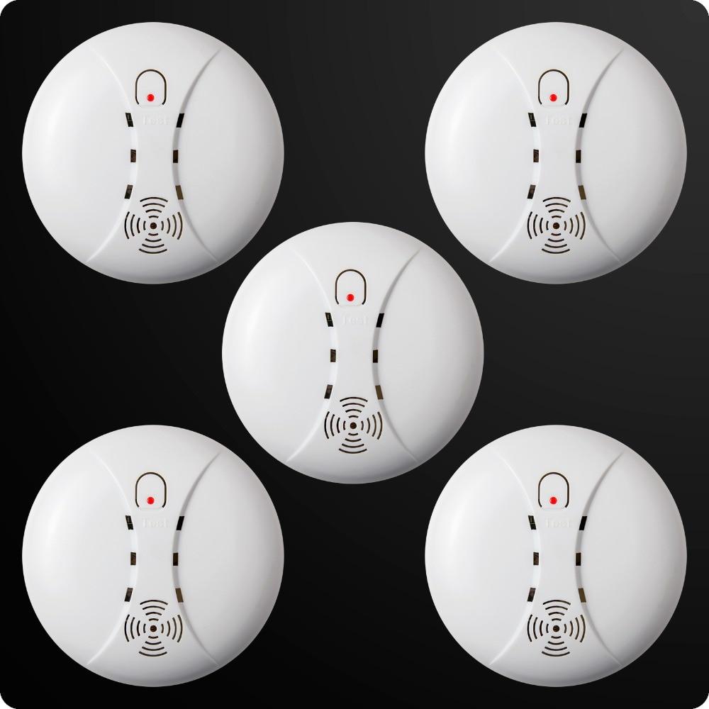 bilder für Großhandel/lot Drahtlose Empfindliches Photoelektrisches Rauchmelder Feuer Sensor Cordless Für Zuhause Alarmanlage