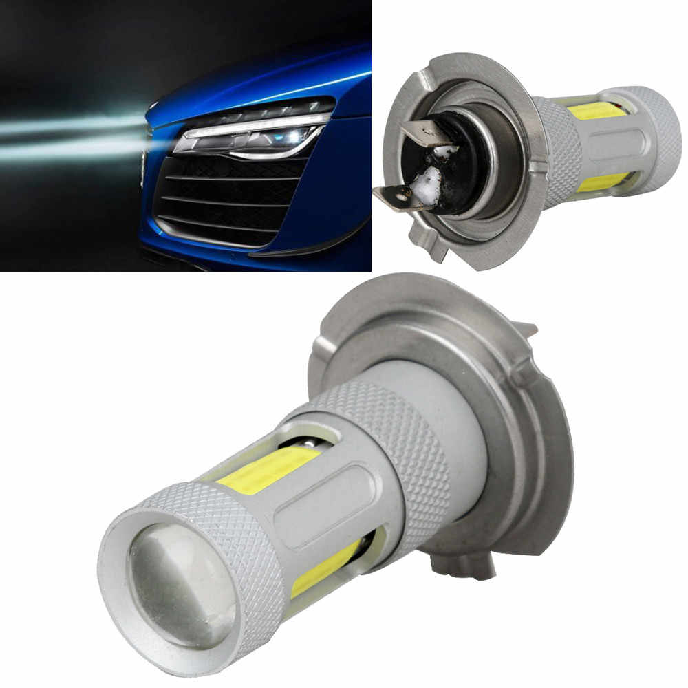 2019 NEW 1x H7 High Power COB LED Car Fog HeadLight Driving Lamp DRL Bulb White 80W For bmw e87 e83 e82 e70 e65 e61 e60 e53 N