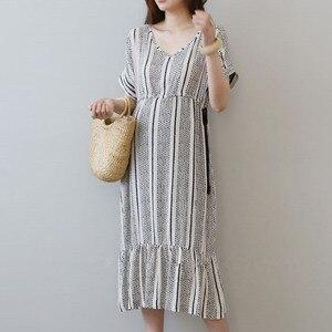 Image 2 - Vestidos de algodón para embarazo Vestidos impresos Vestidos de maternidad para mujeres embarazadas ropa de maternidad Vestidos de verano ropa