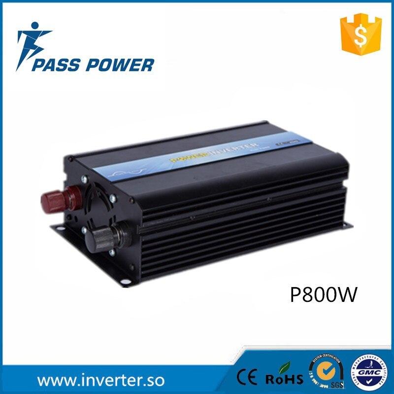 Pleine puissance soft start onde sinusoïdale pure 800 w le convertisseur dc ac 12 v 24 v 48 v hors réseau le convertisseur