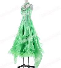 Ballroom  Waltz Tango Ballroom Dance Dress, Smooth Ballroom Dress,Standard Ballroom Dress Girls B-0642 GREEN