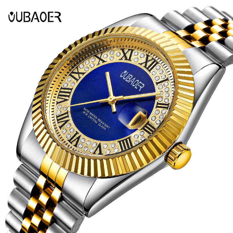Top Brand Luxury OUBAOER erkek kol saati Date Clock Men Sports Watch Men Quartz Casual Wrist Watch Men relogio masculino horloge xinew fashion men sports date analog quartz leather erkek kol saati men watch stainless steel wrist watch 0914