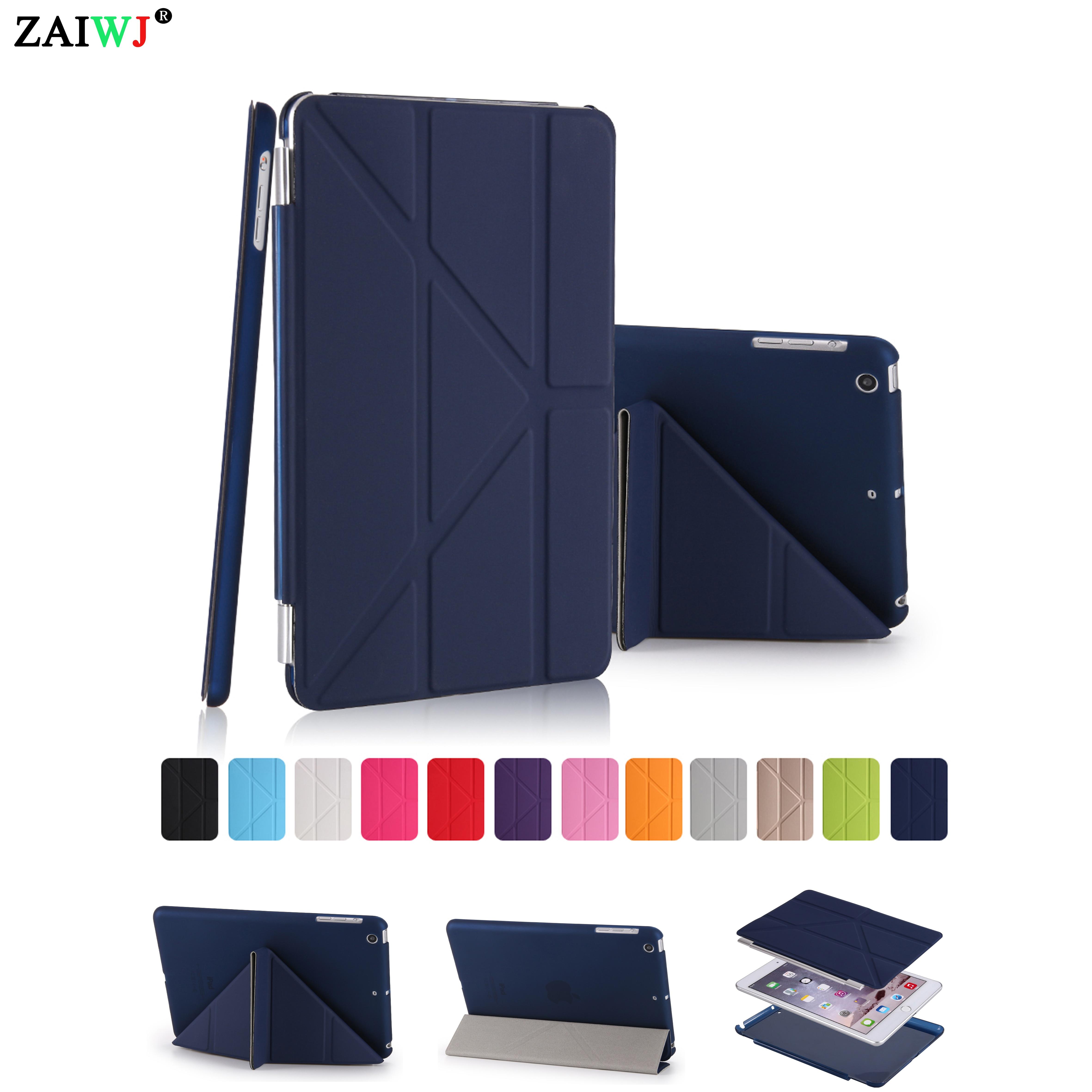 Case Voor Ipad Mini 1 2 3, Zaiwj-pu Lederen Smart Cover Slaap Wakker Magneet Ontwaken Slapen Shell, Voor Ipad Mini 3 2 1 Case