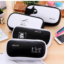 Large Capacity Pen Pencil Case Pen Box Cute School Stationery Cosmetic Bag Cartoon Multi-function Pencil Case Trvel Storage Box цена 2017