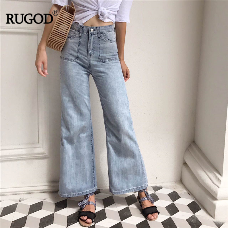 RUGOD High Slim Wide Leg Pants For Women 2017 New Arrival Solid Casual Fashion Female Jeans Comfortable Basic Harajuku Pants anne klein new deep black slim leg ponte director women s 2 dress pants $89 361
