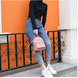 Image 4 - WEICHEN çok fonksiyonlu kadın sırt çantası deri moda küçük sırt çantası kadın bayanlar omuzdan askili çanta Satchel Mini Mochila çanta