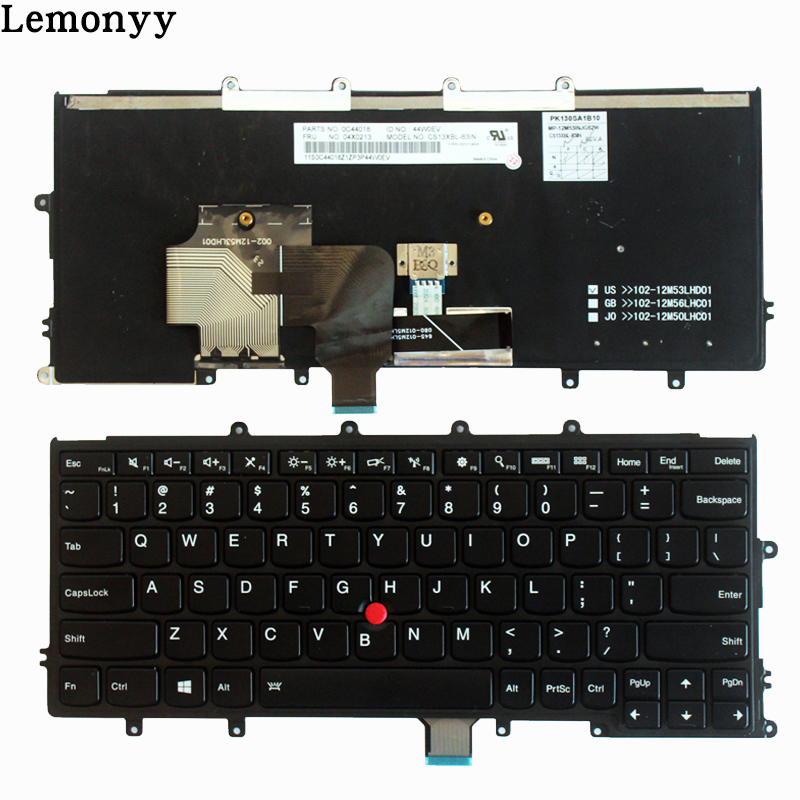 New US laptop Keyboard For Lenovo Thinkpad X230S X240S X240 X250 black US Keyboard 04X2013 with backlight new english laptop keyboard for lenovo thinkpad edge e530 e530c e535 us keyboard 04y0301 0c01700 v132020as3