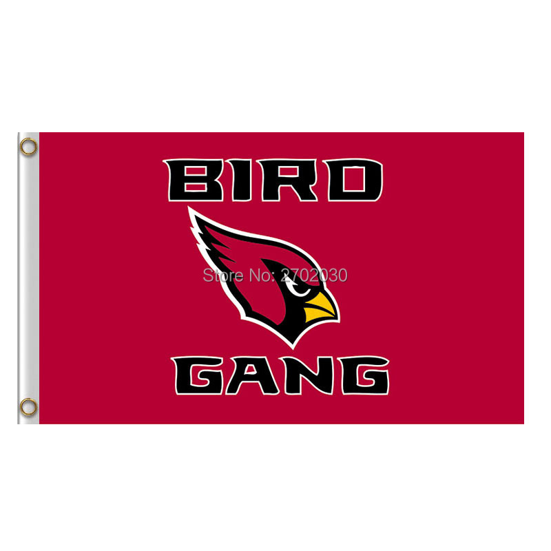 Bird Gang Arizona Cardinals Banner Flag World Series Super Bowl Champions 3ft X 5ft Arizona Cardinals Bird Gang Flag