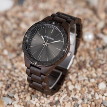 BOBO BIRD Top Brand V-P05 Luxury Watches Men All Wood Quartz Handmade Unique Dress Wristwatch with Steel Fashion Dial