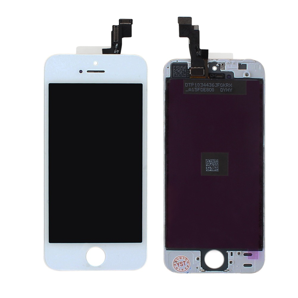 1pc Brand New LCD Display for Apple iphone 5S with Touch Screen Digitizer Assembly Replacement Repair + Retail Box new white lcd display touch screen digitizer replacement repair frame assembly for apple iphone 5s smart phone