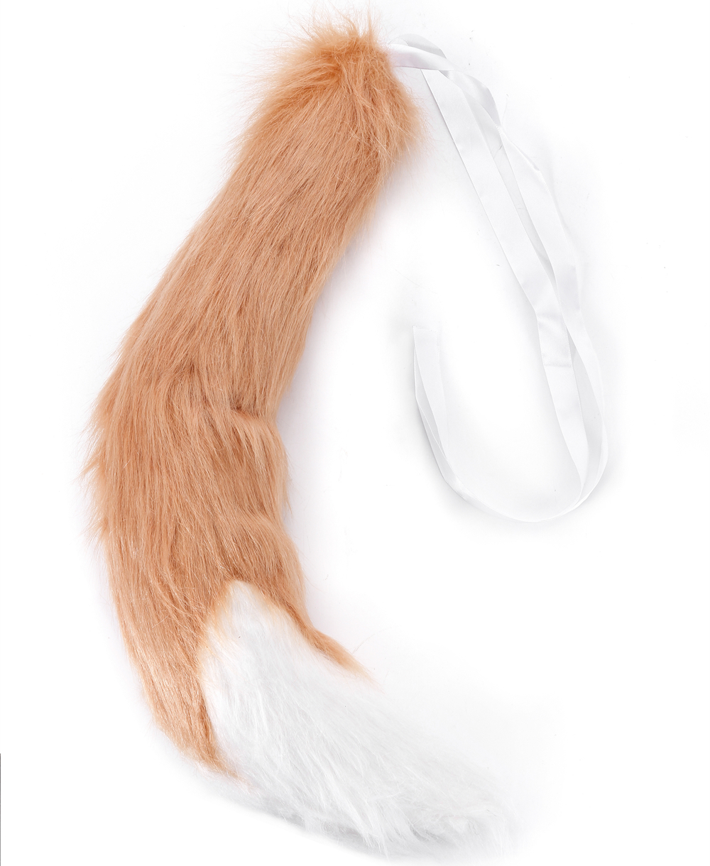 Spice and Wolf Holo Fox Ears Tail Cosplay Props Customes Long Plush Party wear @
