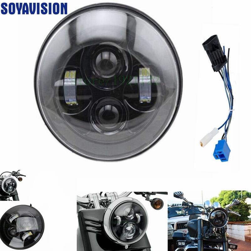 Black 40w Headlight Motorcycle 6000 lm led headlamp 7