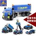 Regalo de la navidad Aclare Al Niño 6409 juguetes educativos juguetes Camión de Descarga KAZI DIY conjuntos de bloques de construcción, juguetes de los niños el envío Libre