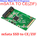 Hot mSATA para ZIF CE Mini PCI-E SATA para ZIF 40pin cartão de 50mm 1.8 polegada SSD HDD Adapter Converter para Notebook Laptop