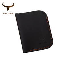 COWATHER 2016 New Cow Genuine Leather Men Card Holder Wallets High Quality Credit Card Holder Trunk