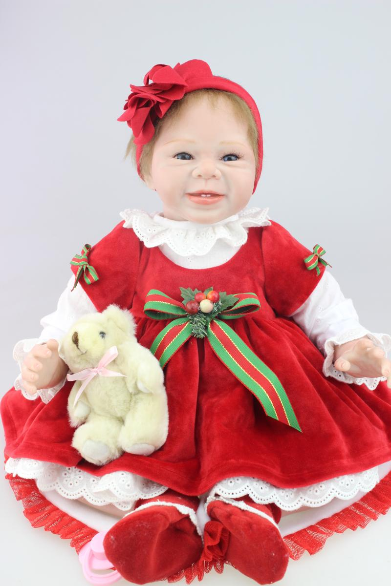 Silicone Reborn Baby Dolls Sleeping Babies Christmas Kids Gifts Toys Girls Brinquedos Princess Birthday Dolls Baby Shower Toys hot sale toys 45cm pelucia hello kitty dolls toys for children girl gift baby toys plush classic toys brinquedos valentine gifts