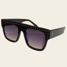 Мужская мода Женские квадратные солнцезащитные очки для женщин солнцезащитные очки больших размеров винтажная, брендовая, дизайнерская солнцезащитные очки нарочитой архаизации стиля для женщин