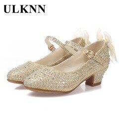 ULKNN wiosna dla dzieci dziewczyny buty dziewczęce sandały princeski skórzane buty dla dzieci Party sandały dla dziewczyny wysoki obcas buty sapato infantil w Sandały od Matka i dzieci na
