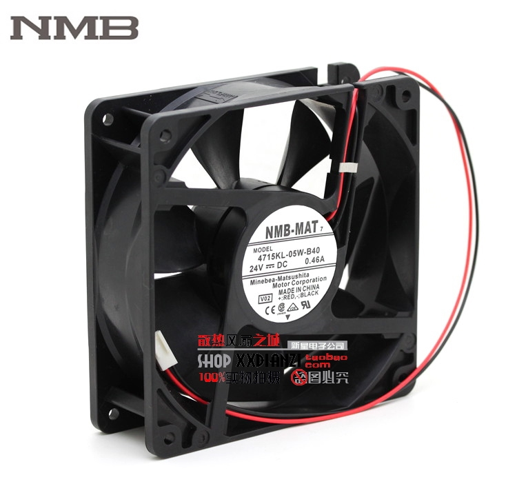 NMB 7 4715KL-05W-B40 12038 120mm 12cm DC 24V 0.46A double ball bearing server industrial powerful cooling fan delta 12038 120mm 12cm ffb1212vhe dc 12v 1 5a 24w 4wire violence server industrial case cooling fans