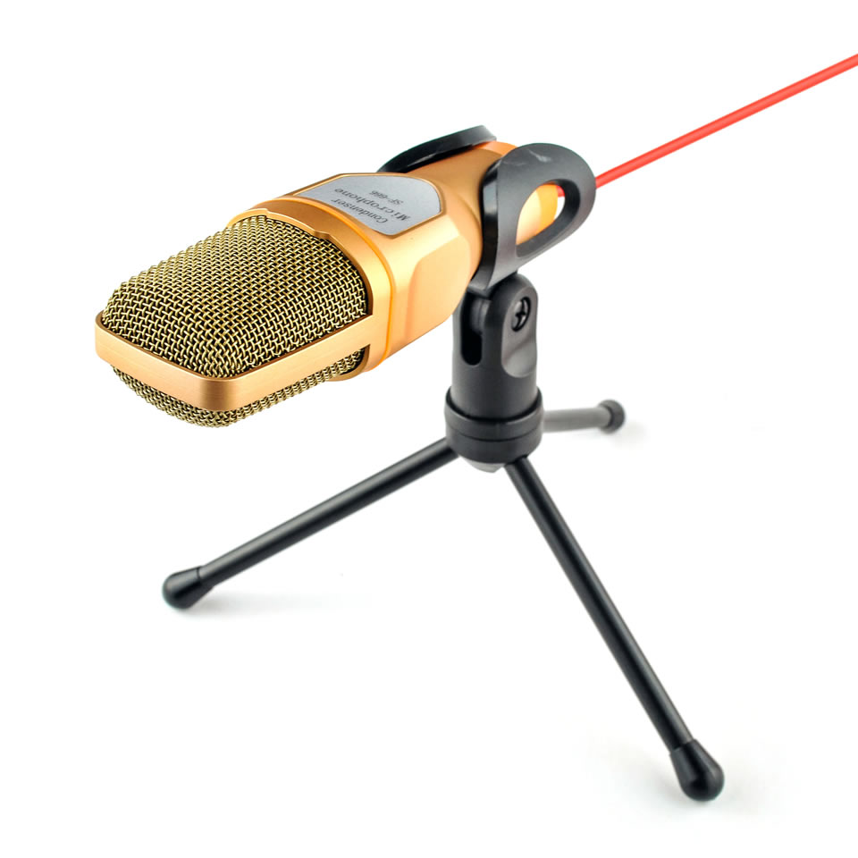 New Condenser Microphone 3.5mm Plug Home Stereo MIC Desktop Tripod for PC YouTube Video Skype Chatting Gaming Podcast Recording 4
