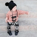 Child autumn and winter double ball yarn fairy hat 0-6 YEARS KIDS  knitted hat KIKIKIDS BABY HEADHEARS BLACK EARS CAPS HATS bebe