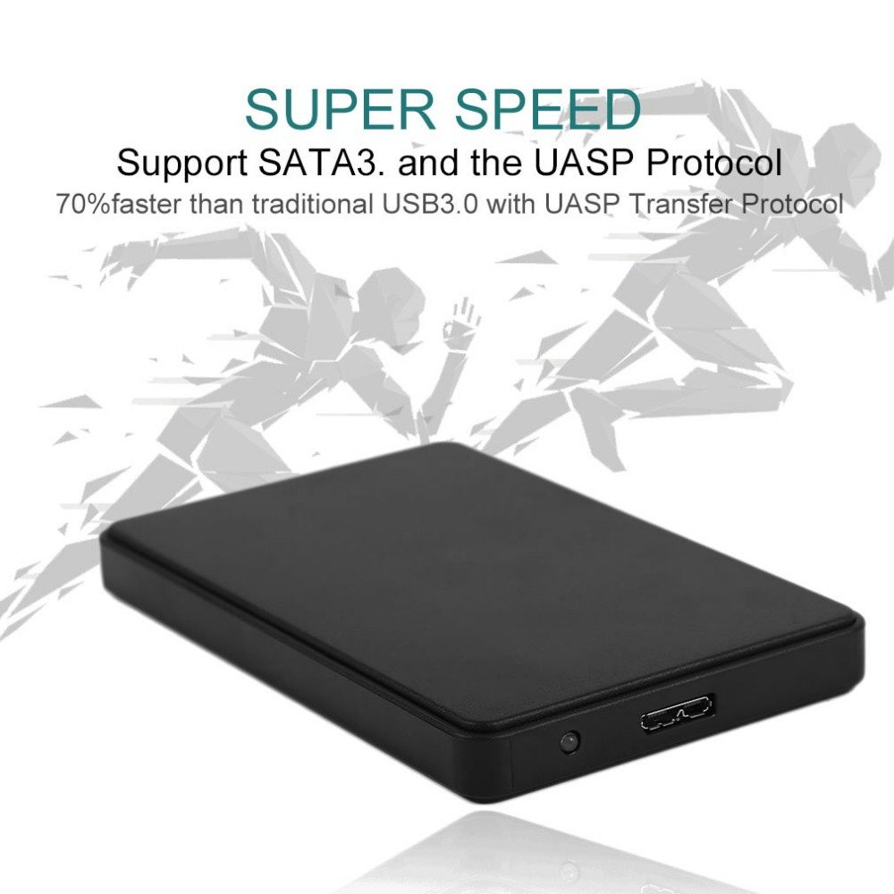 Practical 2.5 Inch SATA External Enclosure USB3.0 HDD Enclosure ABS Box For Hard Drive Disk Support 3TB Capacity Hot selling gtfs hot hot sale practical black 3 5 sata ide hard disk drive hdd 2 fan cooler for pc