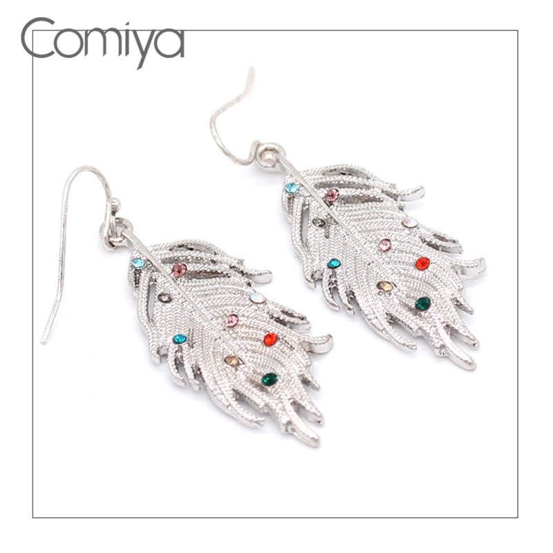 Comiya Dangle Earring Boucles Doreilles Pendantes Femmes Fashion Crystal Zinc Alloy Vinage Links Long Dangle Earrings Charms