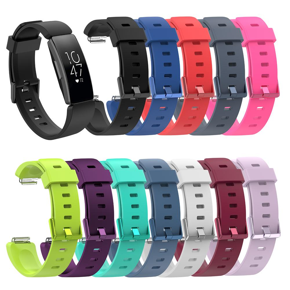 Silicone Wristband Strap Bracelet For Fitbit Inspire / Inspire HR Activity Tracker Smartwatch Replacement Watch Band Wrist Strap