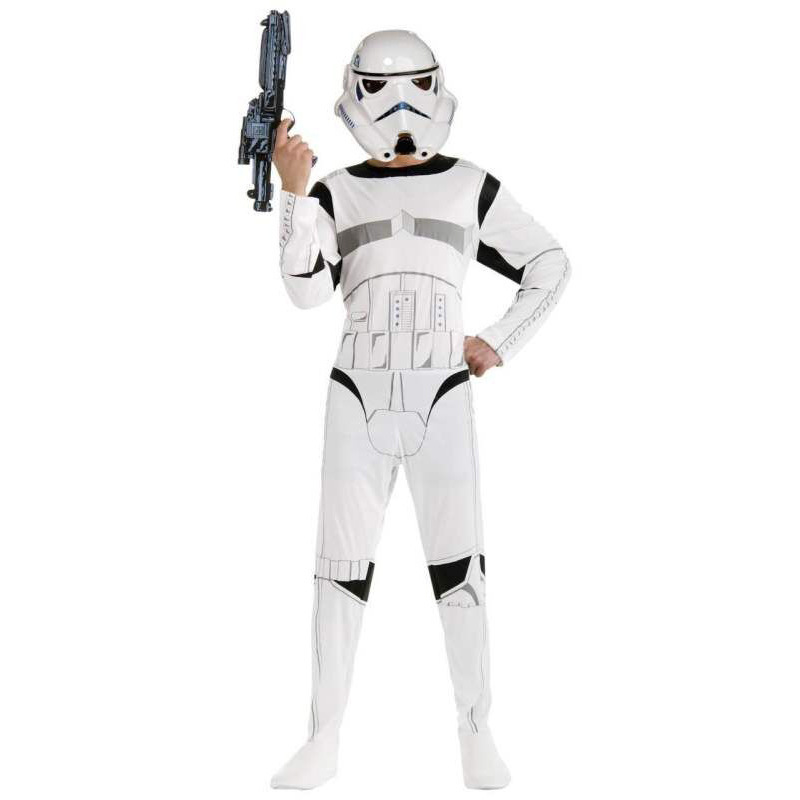 Child  Star Wars The Force Awakens Storm Troopers Cosplay Costume Kids Halloween Party Fancy Dress for boys