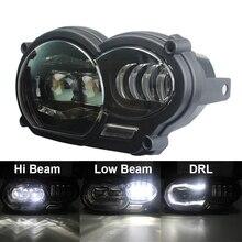 Светодиодная передняя фара в сборе, светильник для мотоцикла, дневные ходовые огни, оригинальный полный комплект для BMW R1200GS 2008 2009 2010 2011, защитный чехол