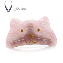 Japan Elegance Acetate Sheets Hair Accessories Flower Pins For Women Cat Shaped Clips Handmade Bows