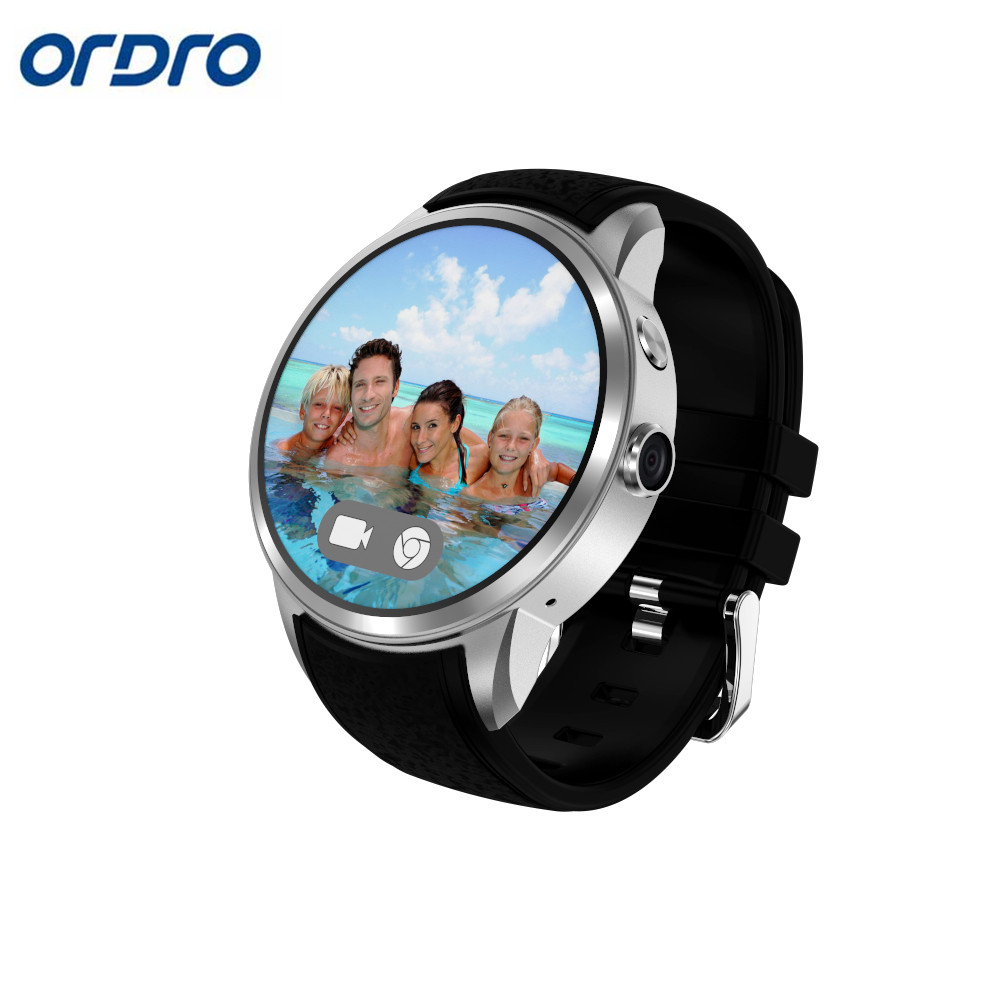 Ordro X 200 Smartwatch Android 5.1 System Bluetooth 4.0 Heart Rate Gps 2mp Camera Passometer