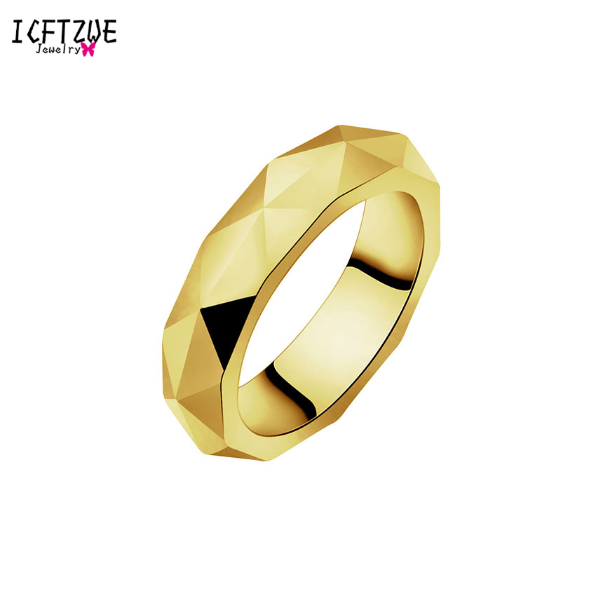 ICFTZWE Vintage Body Jewelry Titanium Black Color Bague Femme Little Prince Anel Hand Cut Without Scratches Ring Men
