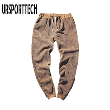 Corduroy Pencil Pants Men Autumn Winter Casual Pant Black Coffee 2018 Straight Stretch Thick Trousers Big Size 5XL