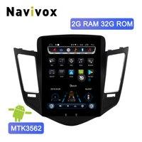 Navivox Android 6,0 вертикальный экран Автомобильный мультимедийный плеер для Chevrolet Cruze 2009 2015 Навигация стерео gps радио с 4G слотом