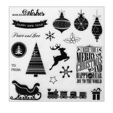 Transparent Silicone Stamp Christmas Seal Sheet Kids DIY Scrapbooking Album Card Decorative Clear Stamp Sheets 20 X 20 cm