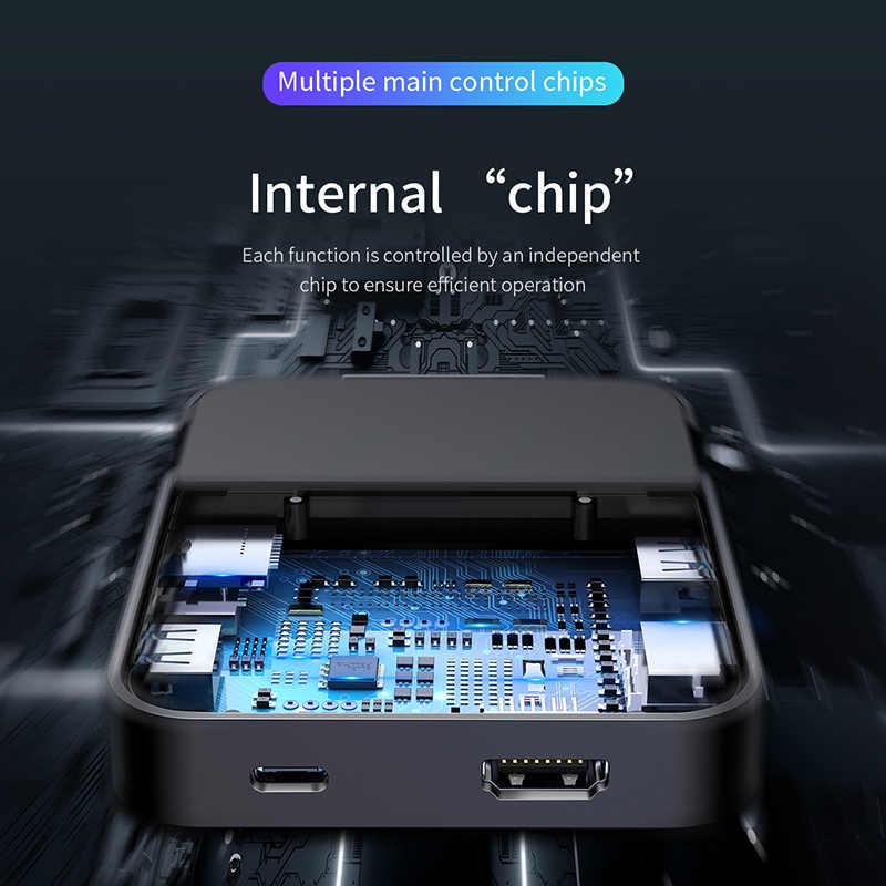 Baseus Type C Hub Docking Station Voor Samsung S10 S9 Dex Pad Station Usb C Naar Hdmi Dock Power Adapter voor Huawei P30 P20 Pro