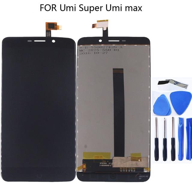 مناسبة ل أومي سوبر LCD + 100% جديد اللمس شاشة زجاج LCD محول الأرقام لوحة استبدال أومي سوبر مراقب + شحن أدوات