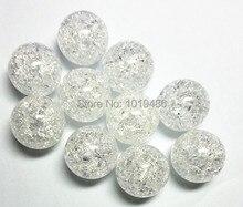 (Wählen größe) 10mm/12mm/16mm/20mm weiß farbe Acryl klar Riss Perlen, bunte Chunky Perlen für Halskette Schmuck