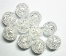 (Wybierz rozmiar) 10mm/12mm/16mm/20mm biały kolor akrylowe jasne Crack koraliki, kolorowe Chunky koraliki na naszyjnik biżuteria