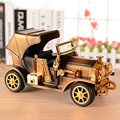 Creative Retro Jalopy Car Simulation Car Models Classic Car with Music Box for Desk Toy Gift Decor