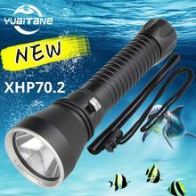 80000LM XHP70.2 IPX8 Diving Flashlight Professional Ultra Powerful 5T6 Waterproof Scuba Flashlights Underwater Torch