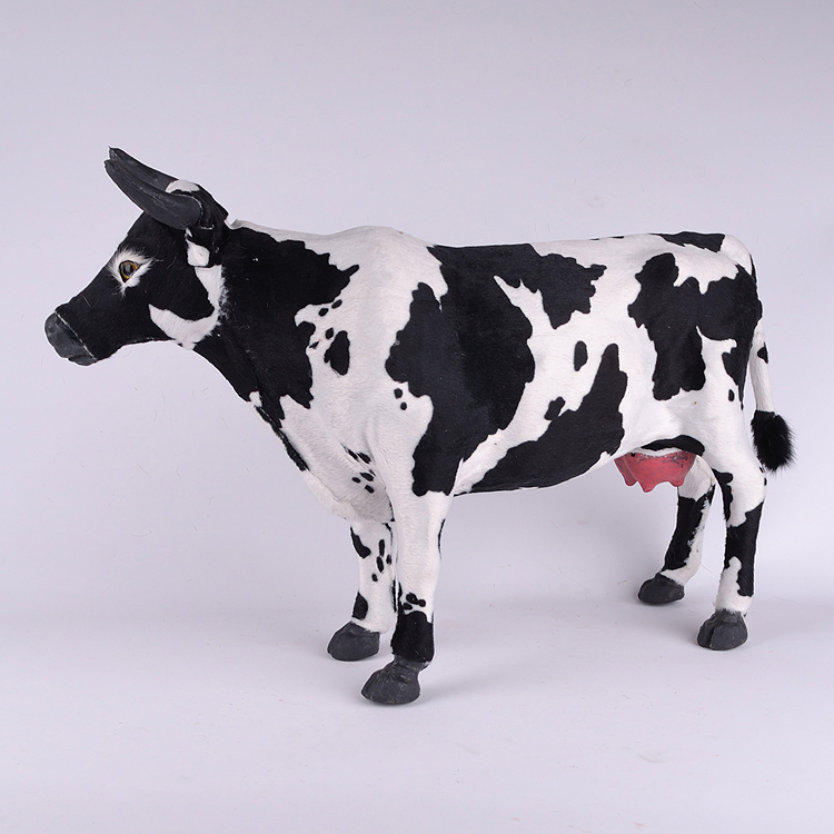 все цены на big new simulation dairy cow toy plastic&fur lovely cow doll gift 53x30cm a37