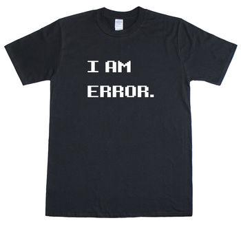Soy un ERROR. Camiseta con cuello redondo de moda Casual de alta calidad con estampado Retro de jugador geek para hombre